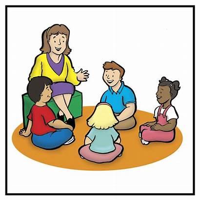 Classroom Clip Class Circle Clipart Morning Children