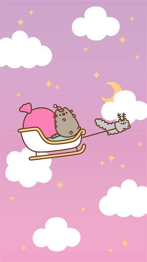 Free Christmas Pusheen Android And Iphone® Wallpapers