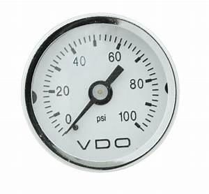Vw Air Cooled Oil  Fuel Pressure Vdo Mini Psi Gauge 1 2  1  8 X 27 Npt V153003