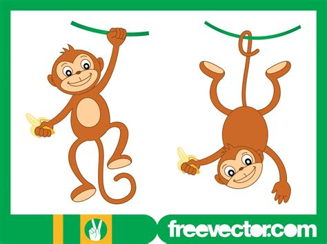 happy monkey characters vector graphics freevector