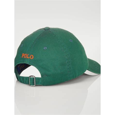 Polo Ralph Lauren Cotton Chino Baseball Cap In Green For