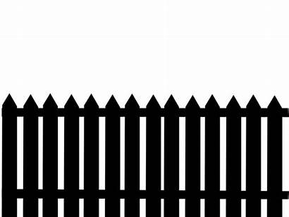 Fence Clipart Silhouette Cemetery Halloween Picket Cloture