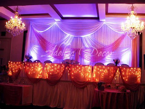 Sweet Sixteen Pink & White Drape Backdrop Uplighting