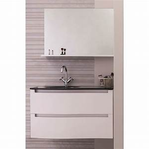 italo ensemble meuble de salle de bain 90cm noir et With meuble salle de bain noir et blanc