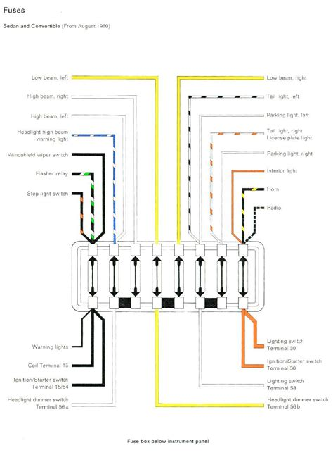 Diagram 10 Fuse Box Wiring For 1968 Vw by Flatfourvw 1960 Beetle Improvements Idiosyncrasies