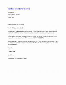 Typical cover letter format best template collection for Typical cover letter example