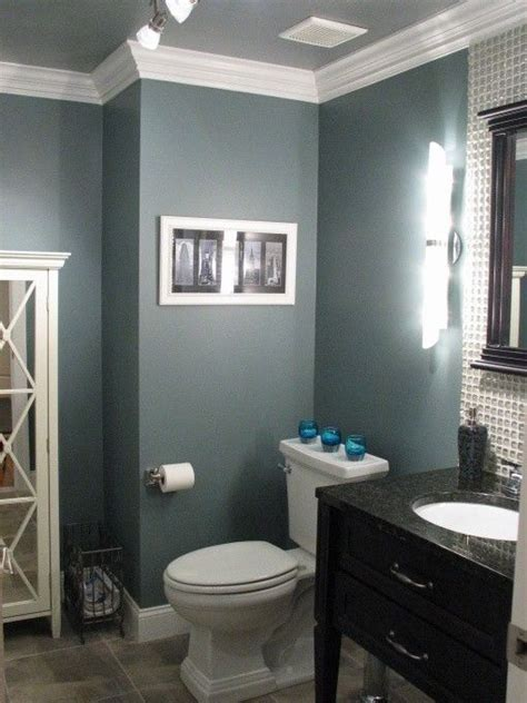 Ideas For Bathroom Colors by Bathroom Paint Idea Benjamin Smokestack Grey