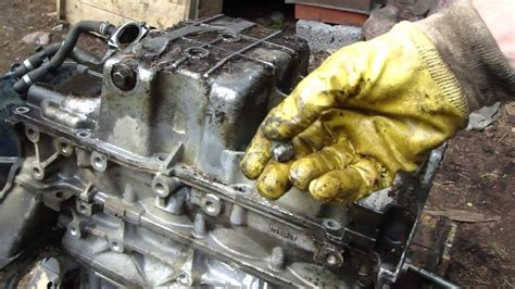 replace gm ecotec engine oil sump youtube