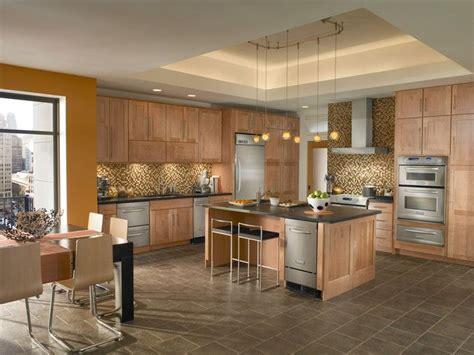 kraftmaid maple cabinetry  toffee kitchen design ideas