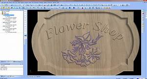 Artistic cad cam software for custom woodworking cnc for Cnc lettering software