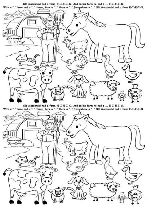 esl farm animals worksheets animal habitat