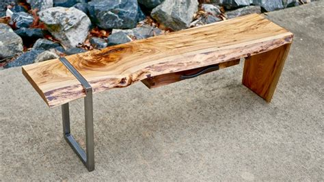 how to make a live edge table modern live edge waterfall coffee table part 1 how to