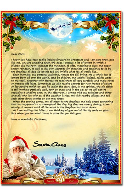 letters from santa 2017 free santa letters your personalized letter 71490