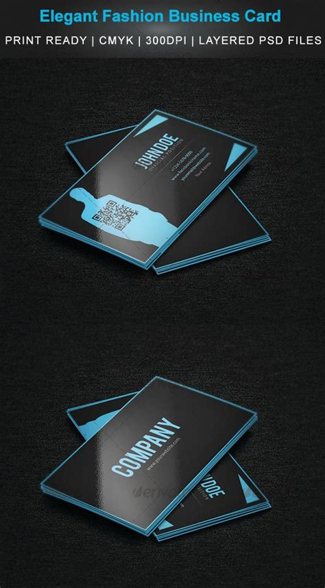 elegant fashion business card graphicriver elegant