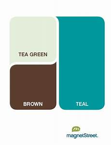 color palette: teal with tea green and brown Wedding