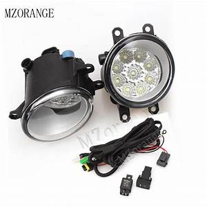 Mzorange Fog Light Fog Lamp Wire 9 Led For Toyota Avensis Auris Rav 4 Iii Camry Corolla Prius