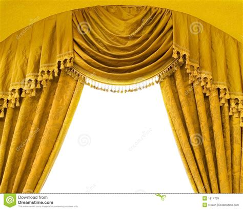 luxury curtains with free space in the middle royalty free