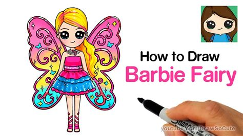 How To Draw Barbie Fairy