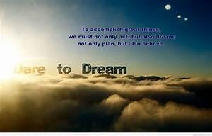 Dare to Dream quote wallpaper