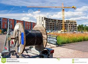Cable Reel In The Construction Site Royalty Free Stock
