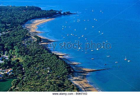 bois de la chaise noirmoutier noirmoutier island aerial view stock photos