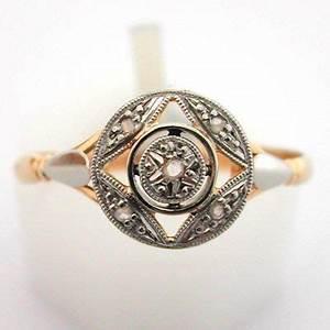 bague ancienne or platine et diamants 487 bijoux With bagues anciennes