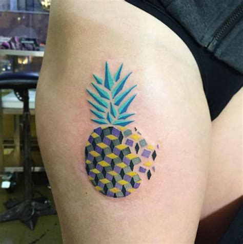 perfectly awesome pineapple tattoos tattooblend