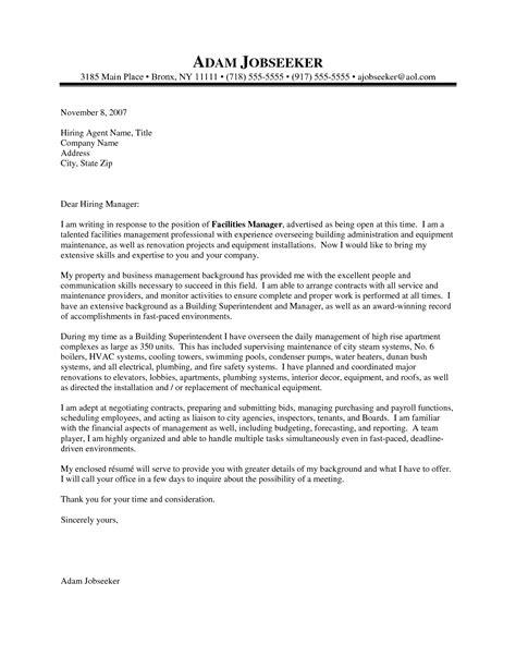 cover letter for supervisor position resume badak