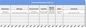 how to create a project communication plan With communication action plan template