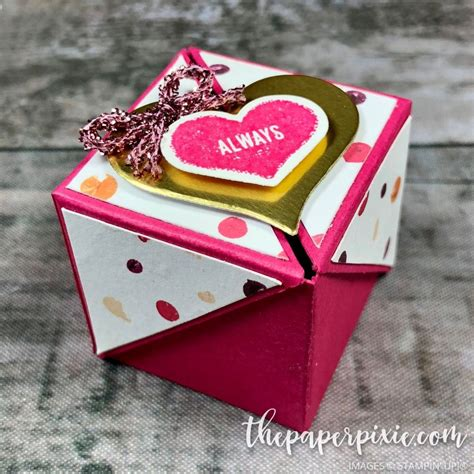 winged lid valentines box  video tutorial