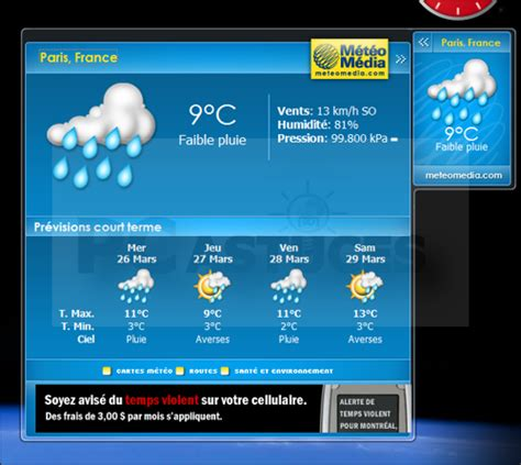 widget meteo bureau pc astuces 10 gadgets pour windows vista