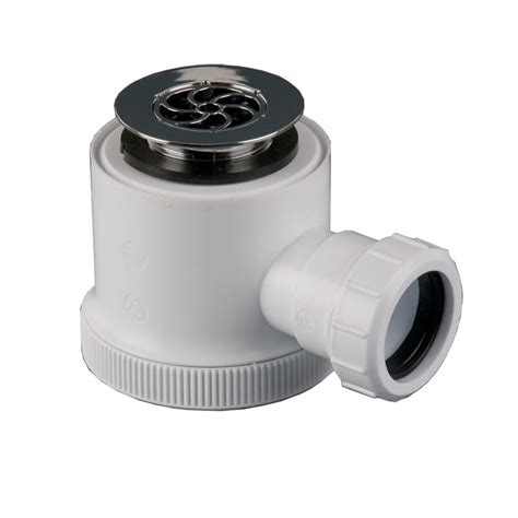 plumbing waste pipe shower bottle trap 50mm seal 40mm drainage superstore 174
