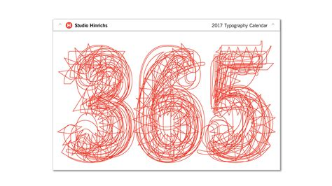 Typo Kalender 2016 by 365 Typography Calendar 2017