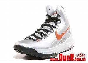 Nike KD V (5) 'Metallic Silver/Desert Orange-Sport Grey ...