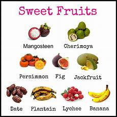 Sweet Foods List Food