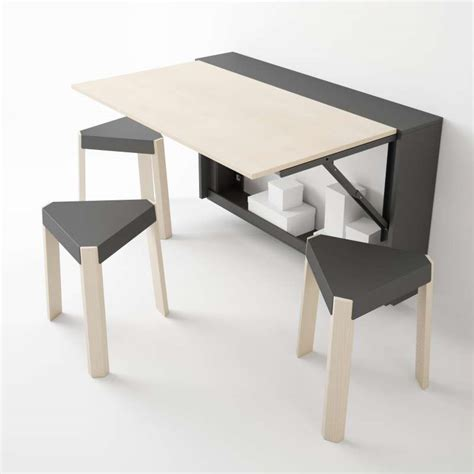 table cuisine rabattable table murale rabattable en m 233 lamin 233 block 4 pieds tables chaises et tabourets