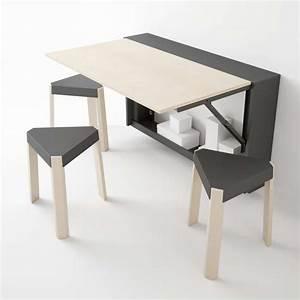 Table Murale Cuisine : table murale rabattable en m lamin block 4 pieds tables chaises et tabourets ~ Teatrodelosmanantiales.com Idées de Décoration