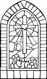 Craft Stained Coloring Glass Easter Church Pages Cross Crafts Window Printable Sheets Kleurplaat Windows Templates Stain Kruis Jonah Nl Bible sketch template