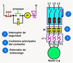 Coparoman  Diagrama Unifilar De Circuito De Potencia De Un Motor El U00e9ctrico