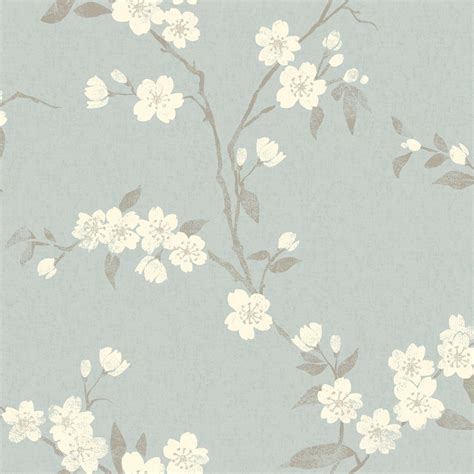 john lewis cherry blossom wallpaper duck egg fw