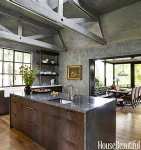 kitchen with brick backsplash rustic modern decor for country spirited sophisticates