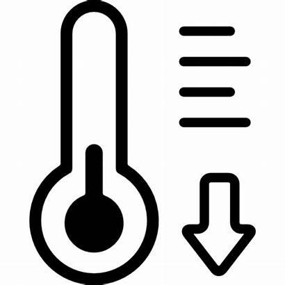 Baja Temperatura Thermometer Gratis Icono Termometro Frio