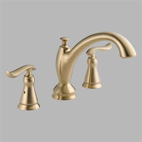 delta linden venetian bronze deck mount roman tub filler