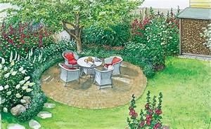 zwei ideen fur eine grosse rasenflache kirschbaum With französischer balkon mit gartengestaltung ideen für große gärten