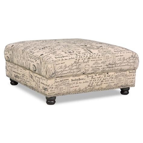 Ottoman Furniture For Sale - marisol ottoman script value city furniture and mattresses