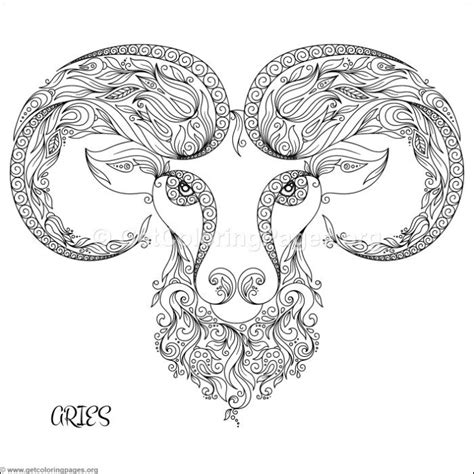 zodiac sign aries coloring pages getcoloringpagesorg