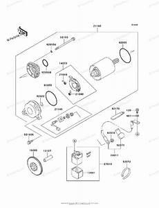 Kawasaki Motorcycle 1996 Oem Parts Diagram For Starter