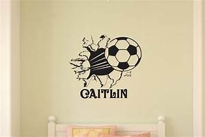 soccer ball bursting through wall vinyl wall decal sticker art With best 20 soccer decals for walls
