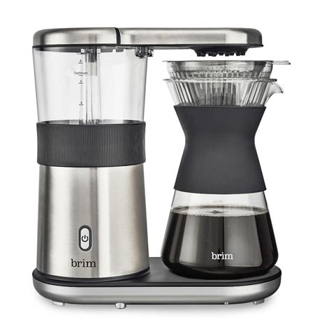 Buying the right automatic pour over coffee machine is tricky. Brim 8-Cup Pour Over Coffee Maker   Williams Sonoma CA