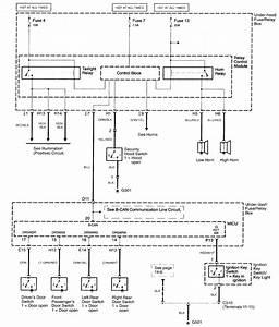 Acura Tl  2003 - 2005  - Wiring Diagrams - Keyless Entry